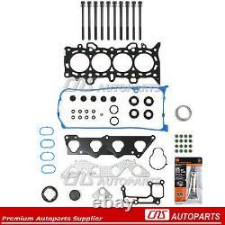 01-05 Honda Civic DX LX 1.7L Cylinder Head Gasket Set+Bolts+RTV Silicone D17A1